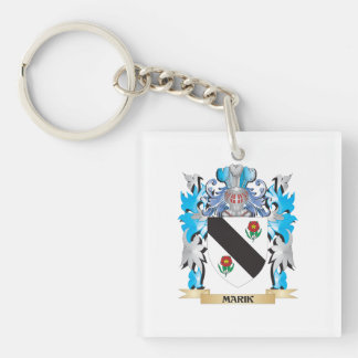 Marik Coat of Arms - Family Crest Single-Sided Square Acrylic Keychain