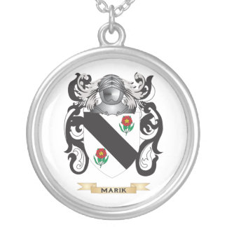 Marik Coat of Arms (Family Crest) Round Pendant Necklace
