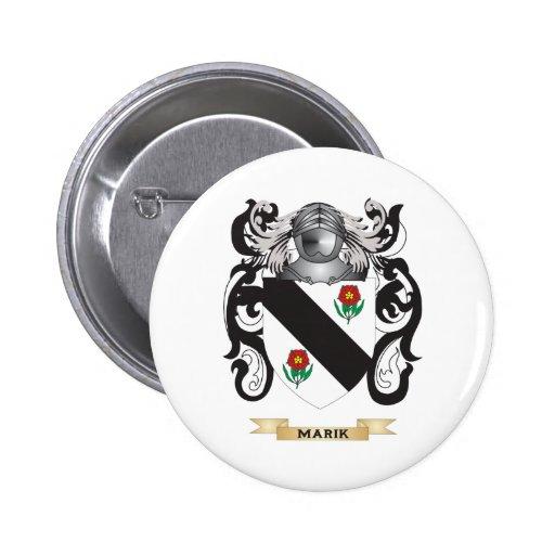 Marik Coat of Arms (Family Crest) Pinback Button
