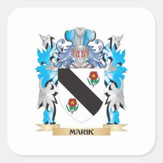 Marik Coat of Arms - Family Crest Square Sticker