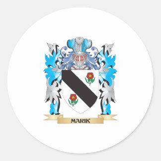 Marik Coat of Arms - Family Crest Classic Round Sticker