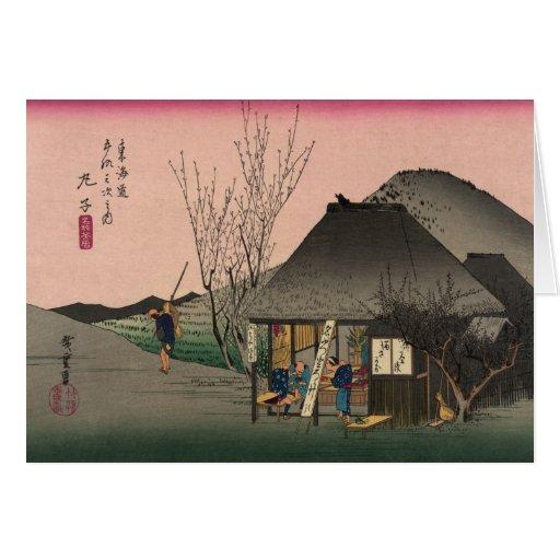 Mariko, 53 estaciones del camino de Tokaido, Hiros Tarjeta De Felicitación