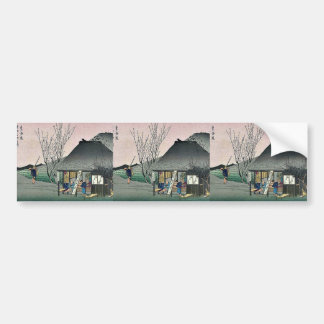 Mariko by Ando, Hiroshige Ukiyoe Bumper Stickers