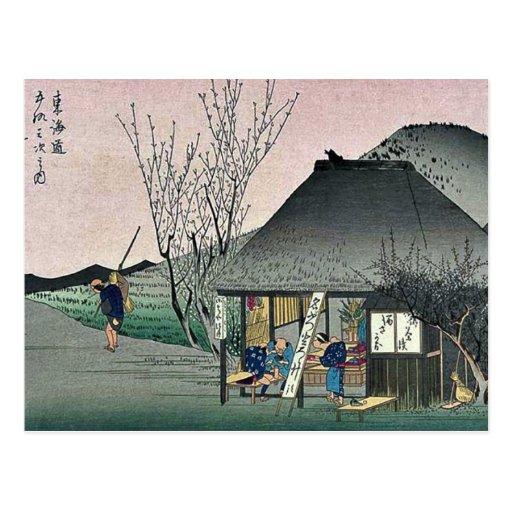 Mariko by Ando, Hiroshige Ukiyoe Postcard
