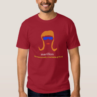 marillion: the conspicuously unsuitable girlfriend tee shirt