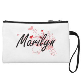 Marilyn Artistic Name Design with Hearts Wristlets