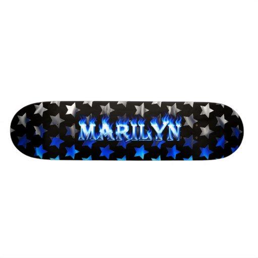 Marilyn blue fire Skatersollie skateboard. Skateboards