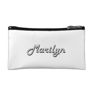 Marilyn Classic Retro Name Design Cosmetic Bags