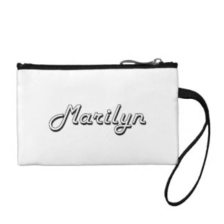Marilyn Classic Retro Name Design Coin Wallet
