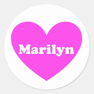 Marilyn Classic Round Sticker
