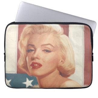 Marilyn Flag Laptop Computer Sleeves