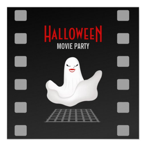 Marilyn Ghost Halloween Movie Party Invitation 5 25