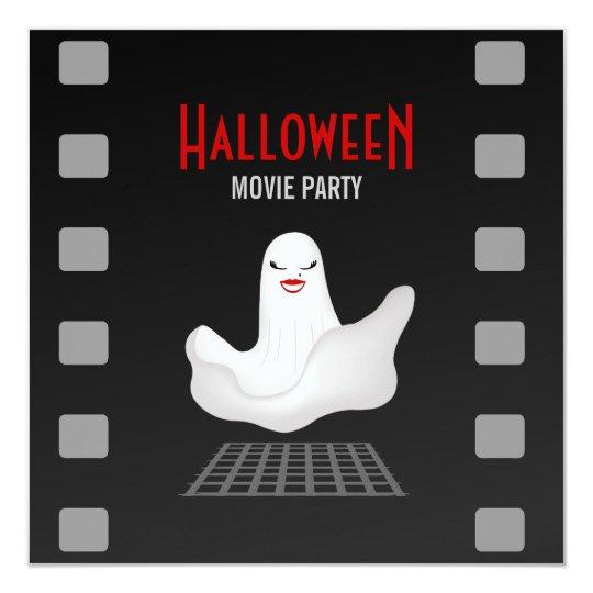 Marilyn Ghost Halloween Movie Party invitation