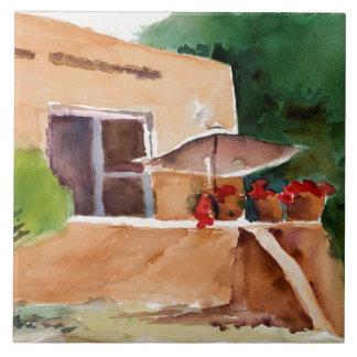 "Marilyn Holmes Ceramic Tile ""Patio in Taos"""