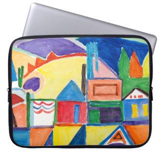 "Marilyn Holmes Fine Art ""The Town"" Laptop Sleeve"