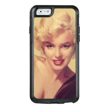 Marilyn In Black Otterbox Iphone 6/6s Case by boulevardofdreams at Zazzle