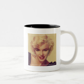 Marilyn in Black Two-Tone Coffee Mug