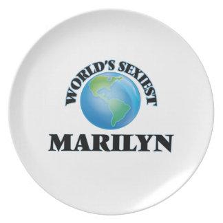 Marilyn más atractiva del mundo plato para fiesta