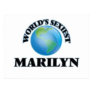Marilyn más atractiva del mundo tarjeta postal