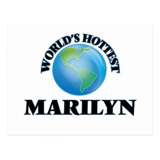 Marilyn más caliente del mundo tarjeta postal