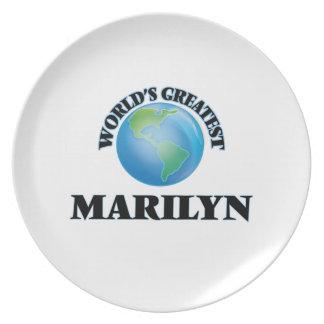 Marilyn más grande del mundo plato de cena