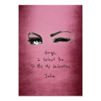 Marilyn Monroe Burgundy Valentine Love Declaration Card