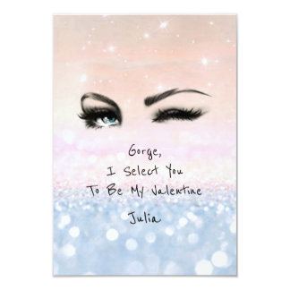 Marilyn Monroe Pink Blu Valentine Love Declaration Card