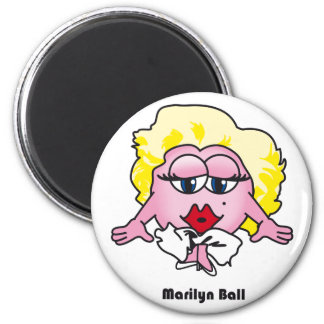 Marilyn Munroe Ball fridge magnet
