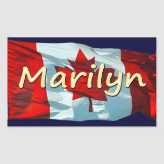 MARILYN Name & Canadian Flag Personal Stickers