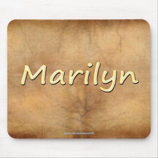 MARILYN Nombre-Calificó el regalo personalizado Mo Mouse Pads