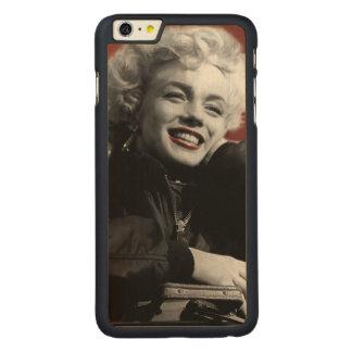 Marilyn patriótica funda de arce carved® para iPhone 6 plus