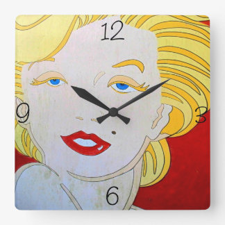 Marilyn Square Wall Clock