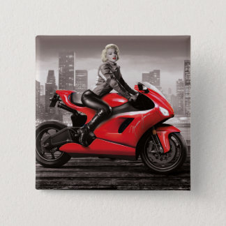Marilyn's Motorcycle Button