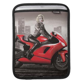 Marilyn's Motorcycle iPad Sleeves