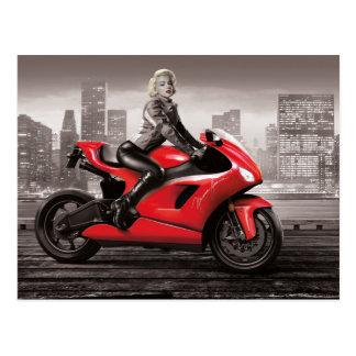 Marilyn's Motorcycle Postcard
