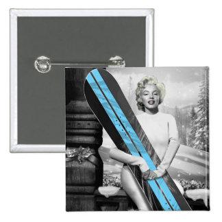 Marilyn's Snowboard Button