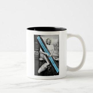 Marilyn's Snowboard Two-Tone Coffee Mug