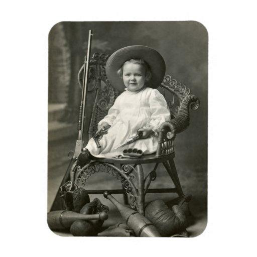 Marimacho de 1910 americanos iman de vinilo