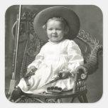 Marimacho de 1910 americanos pegatinas cuadradas