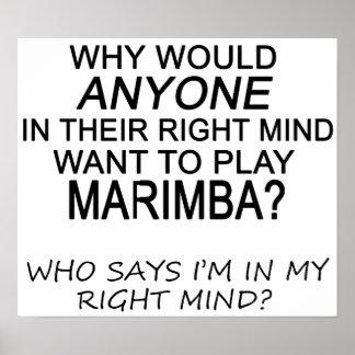 Marimba derecho de la mente poster