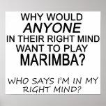 Marimba derecho de la mente póster