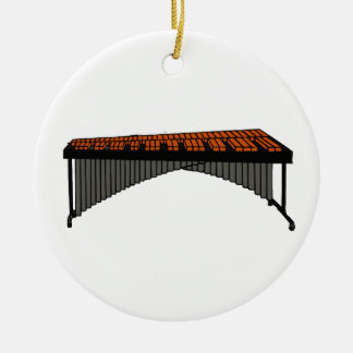 Marimba Design Graphic 1 Double-Sided Ceramic Round Christmas Ornament