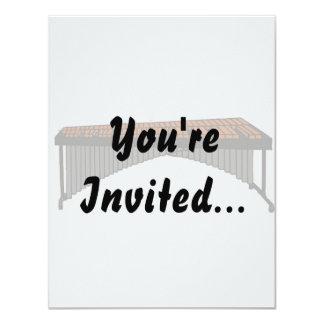 Marimba Design Graphic 1 4.25x5.5 Paper Invitation Card