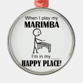 Marimba Happy Place Christmas Ornament