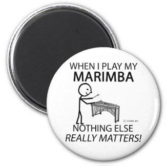 Marimba Nothing Else Matters 2 Inch Round Magnet