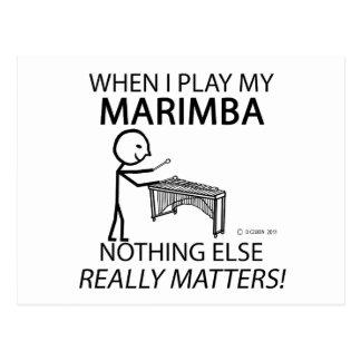 Marimba Nothing Else Matters Postcard