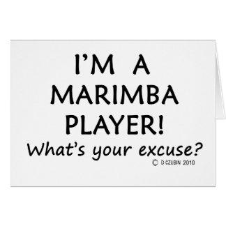Marimba Player Excuse Card