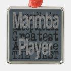 Marimba Player Extraordinaire Metal Ornament