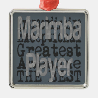 Marimba Player Extraordinaire Metal Ornament
