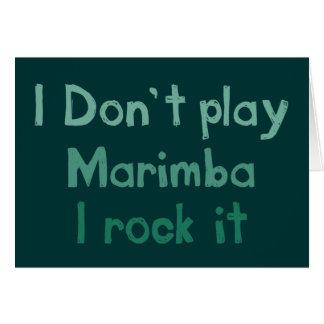 Marimba Rock It Greeting Card